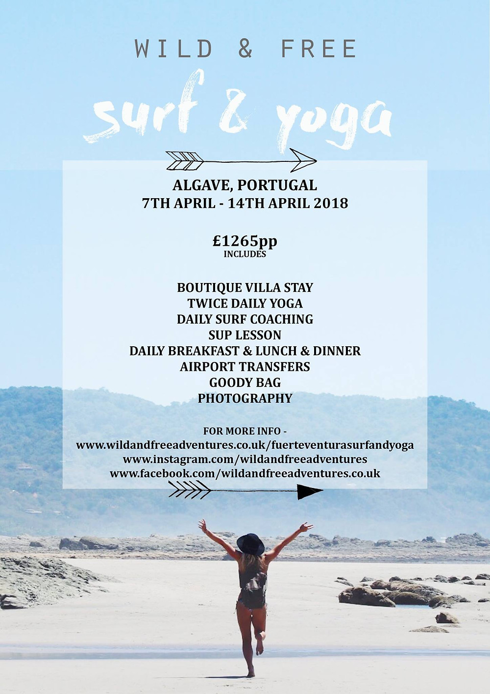 wild and free adventures Portugal retreat surf sup yoga escape to nature