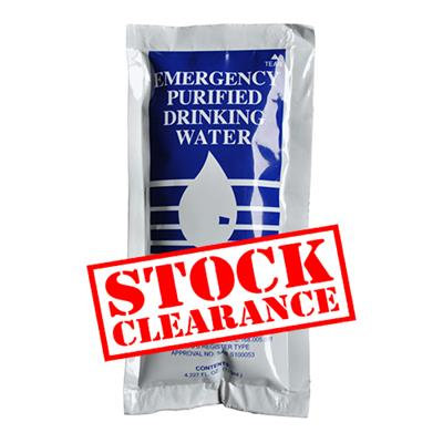 EMERGENCY WATER - REDUCED SHELF LIFE
