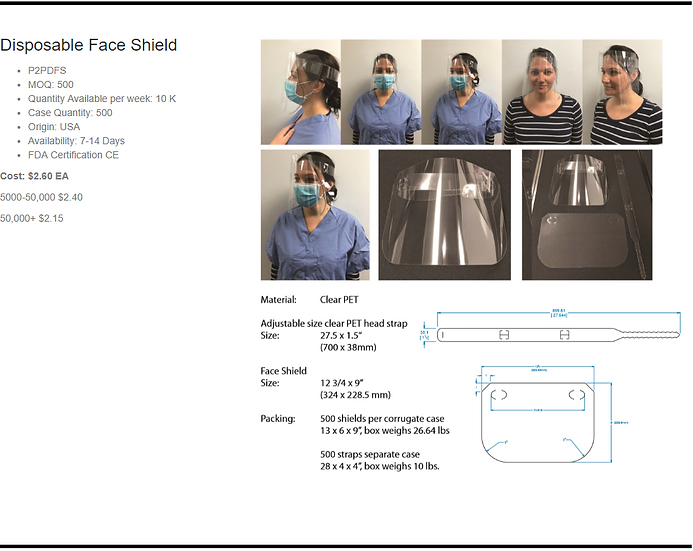 Genetix Disposable Face Shield (Made in the USA)