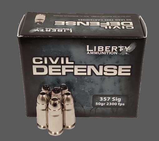 Liberty Ammunition Civil Defense .357 Sig