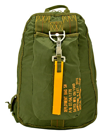 Tactical Parachute Backpack - Olive Green