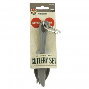 Camping Cutlery Set with Carabiner