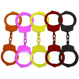 STAINLESS STEEL COLORED HANDCUFFS