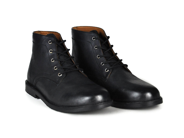 The Grover   Black Leather