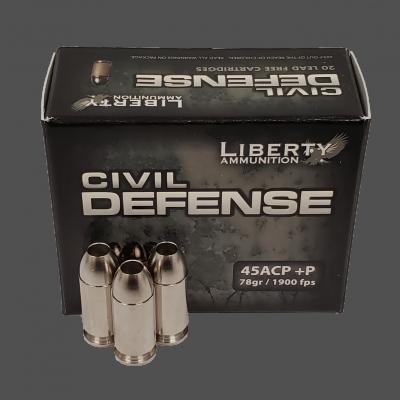 Liberty Ammunition Civil Defense .45 ACP +P