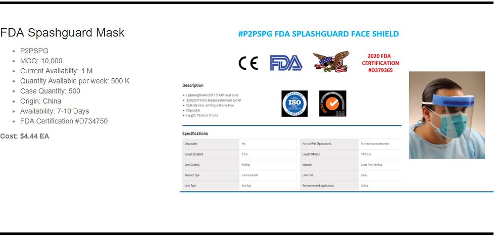 Genetix FDA Splashguard Mask