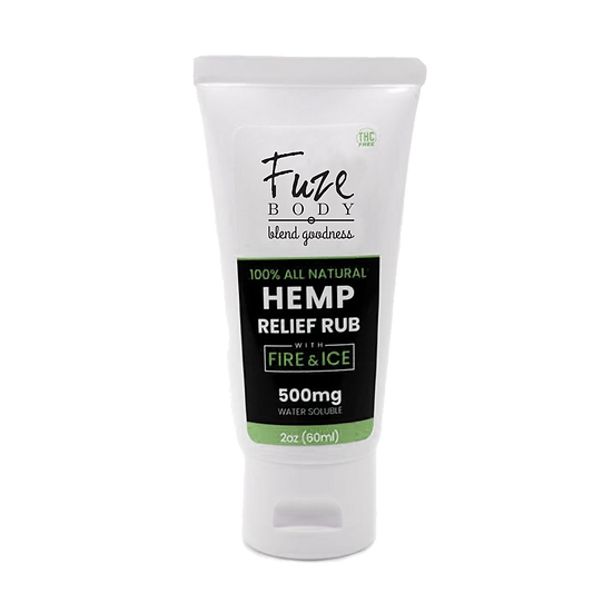 Hemp Pain Cream W/Fire & Ice™ Nano H2O - 2 Oz