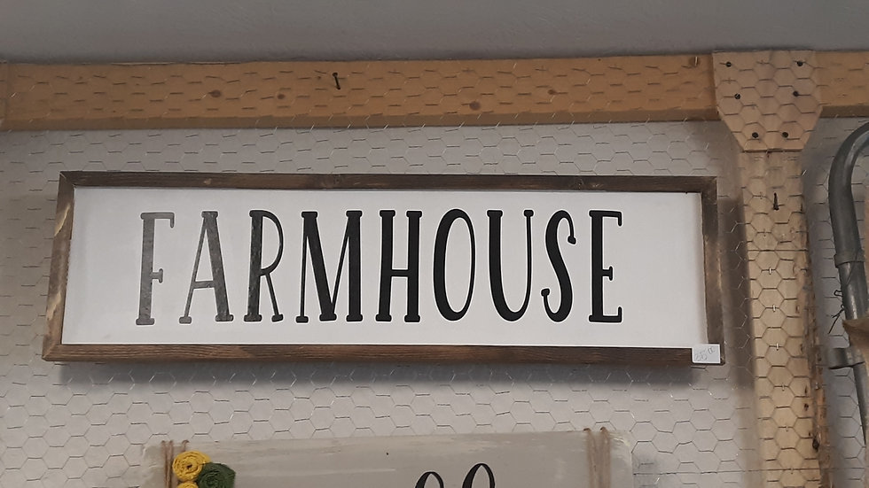 Farmhouse Sign -Wooden