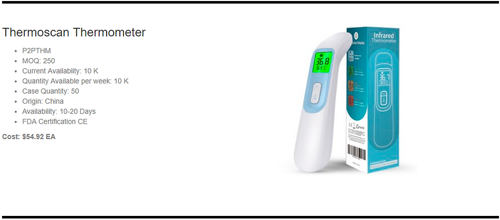 Genetix Thermoscan Thermometer