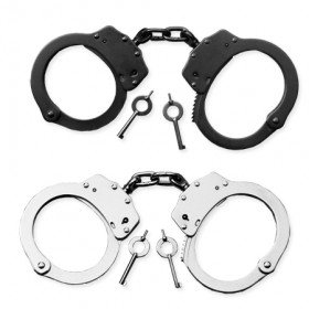 SMITH & WESSON STEEL DOUBLE LOCKING CHAIN-LINK HANDCUFFS