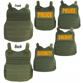 FIRST CLASS TACTICAL BODY ARMOR CARRIER (OLIVE GREEN)