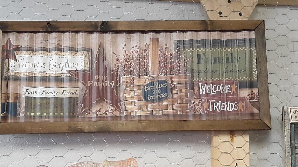 Corrugated Tin Sign