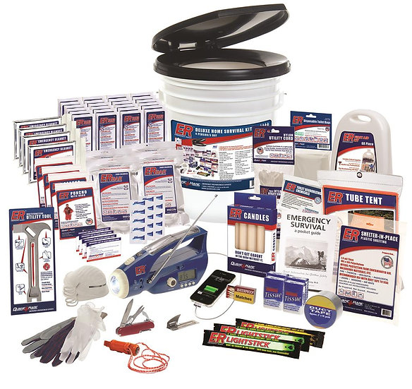 4 PERSON ULTIMATE DELUXE EARTHQUAKE SURVIVAL KIT