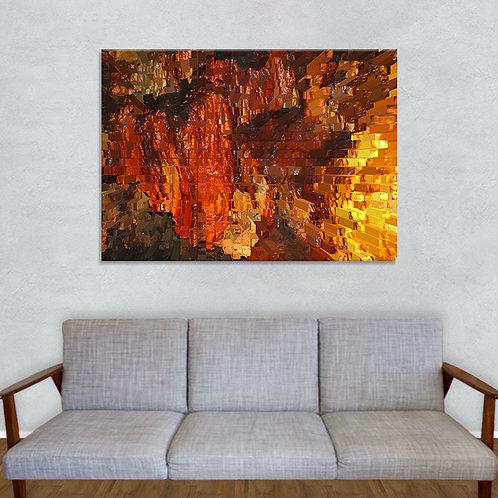 Abstrakt Tropsteinhöhle Griffen - 0005