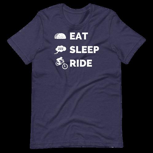 EAT SLEEP RIDE Short-Sleeve Unisex T-Shirt