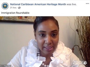IN HONOR OF CARIBBEAN HERITAGE MONTH, SIMONE WILLIAMS APPEARS ON IMMIGRATION PANEL TO DISCUSS LATEST