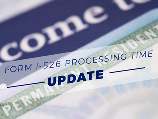 USCIS POSTS HUGE DROP IN I-526 PROCESSINGTIME:FROM 19.8 TO 12.6 MONTHS