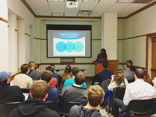 Simone Williams spoke to International Students at Georgetown University