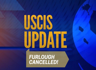 USCIS RULES OUT FURLOUGHS