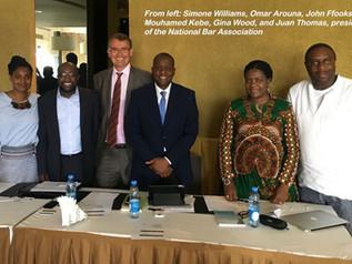 Simone Williams moderated an International Trade and Business panel in Dakar, Senegal