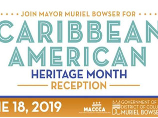 Caribbean American Heritage Month Reception TODAY!