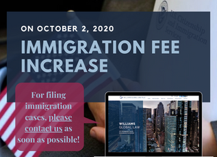 ***Reminder*** Immigration Fee Increase!