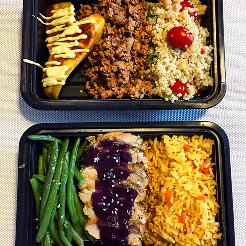2  MEALS A DAY FOR 1 WEEK (M-F)