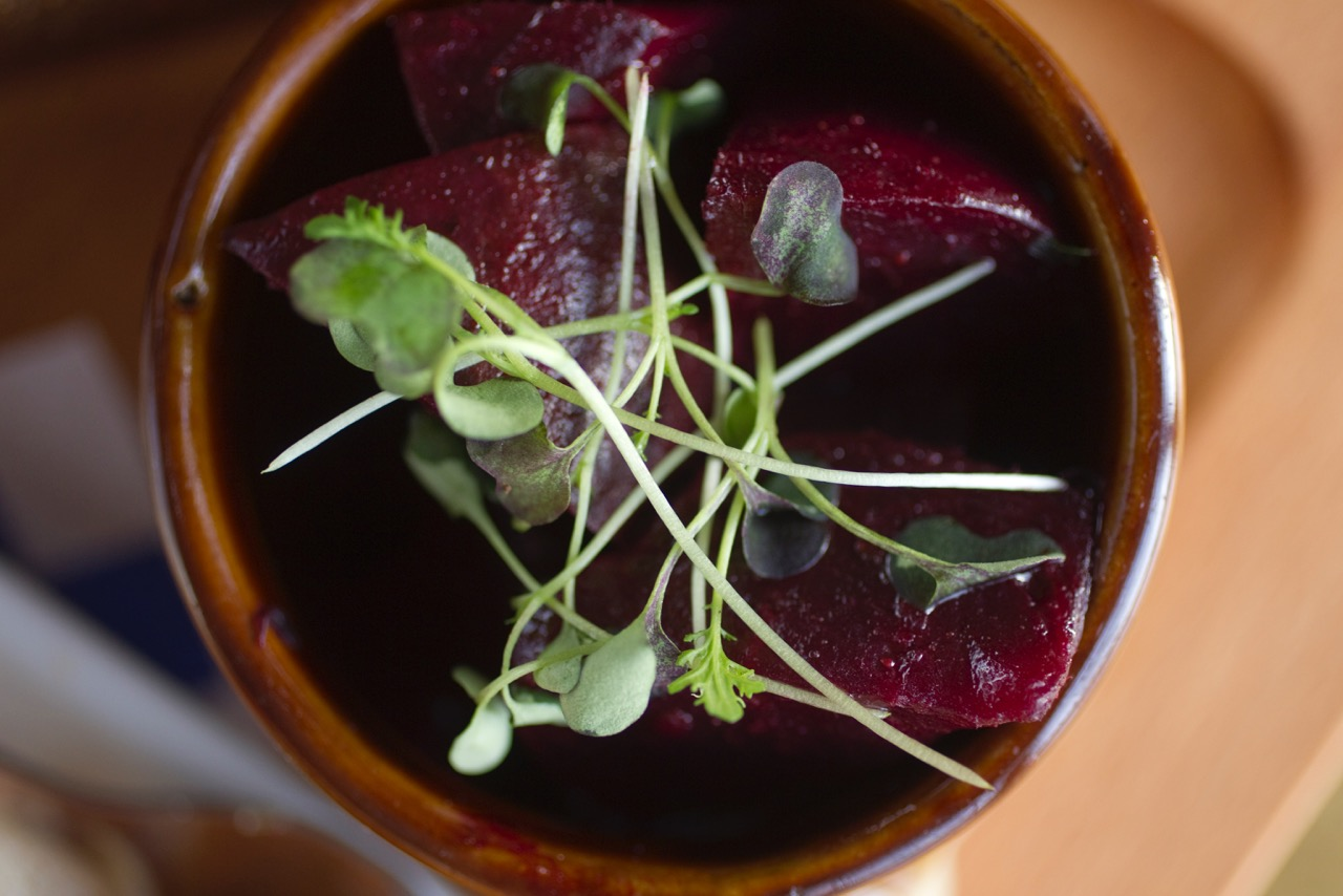 Pickled Beets & Green Salad