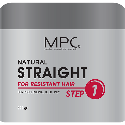 NATURAL STRAIGHT FOR RESISTANT HAIR (Step 1) 500ml