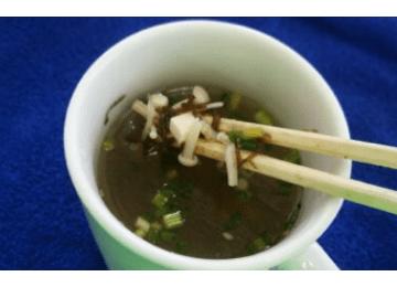 みずたやもずくのほっこりスープ