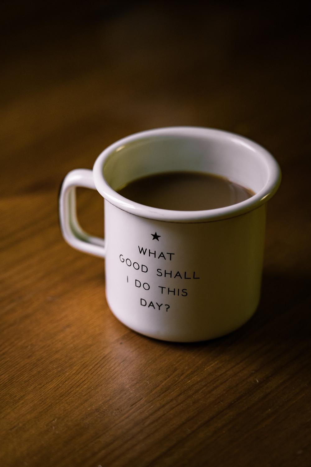 Coffee mug, Do good, Quote, Yoga, Ahimsa, Nonviolence, Volunteering, Selfless service, Bhakti Yoga