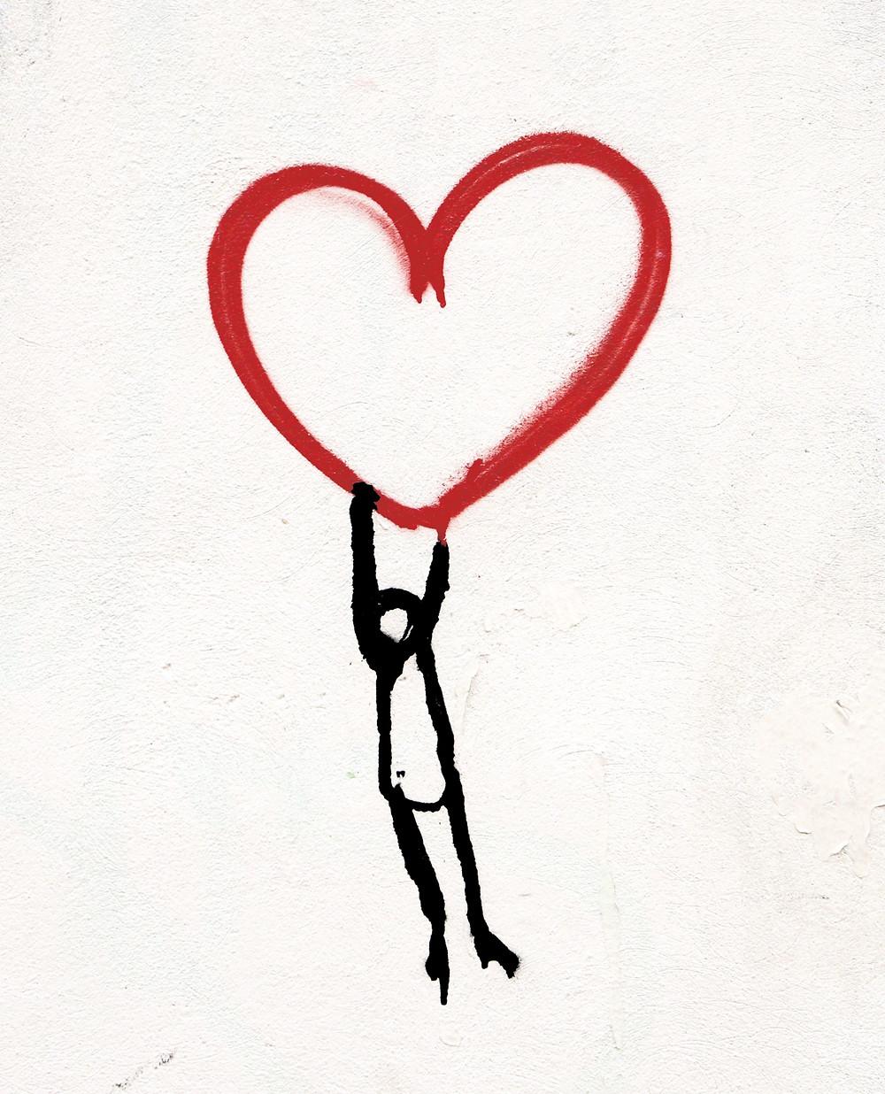 self love, ahimsa, yoga, wall art