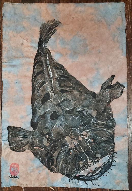 Monkfish Gyotaku