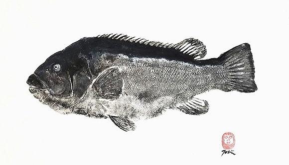Original Tautog Gyotaku