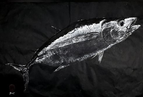 Long-finned Albacore Gyotaku