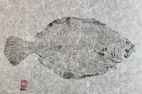 Summer Flounder 'Fluke' Gyotaku