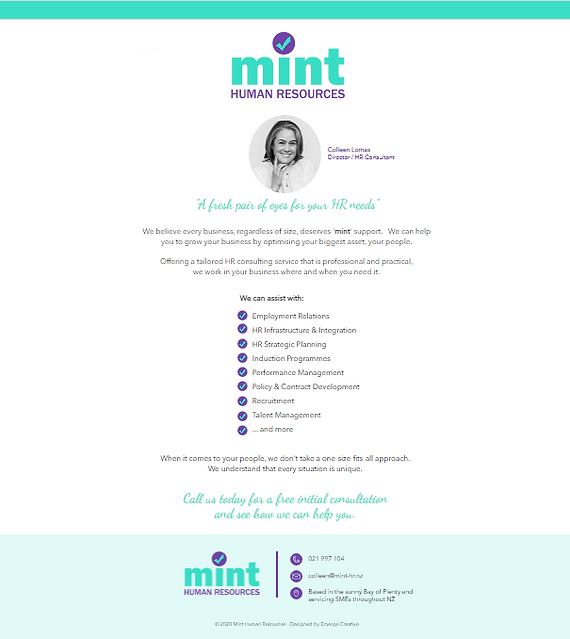 Mint HR one page.PNG