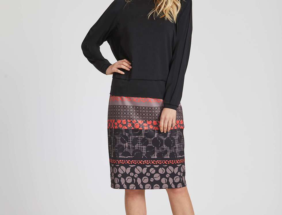 Tobin Printed Skirt