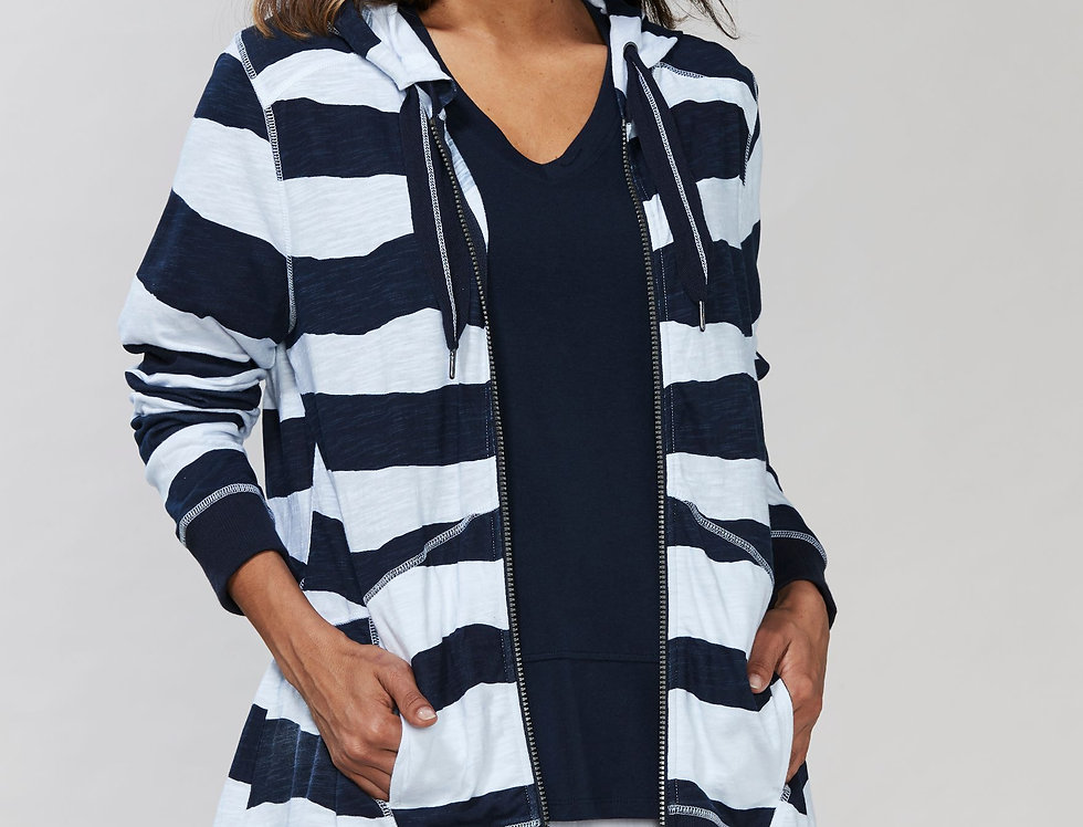 Altar Striped Hooded Jacket