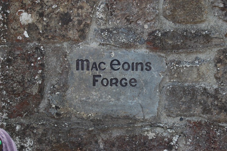 Name plate at the forge