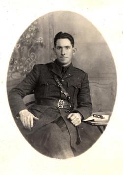 Seán Mac Eoin in military uniform
