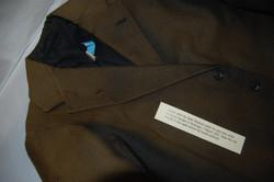 Seán's coat with bullet hole