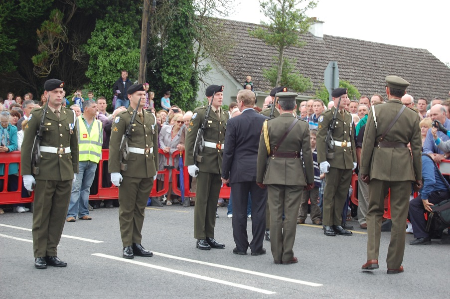Inspecting the Guard of Honour