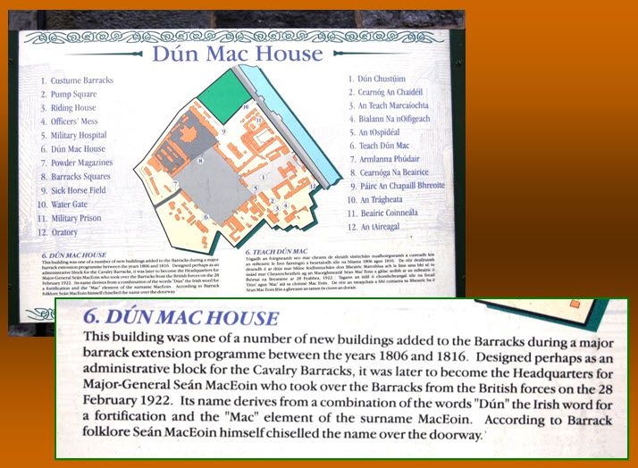Information Plaque  Custume Barracks