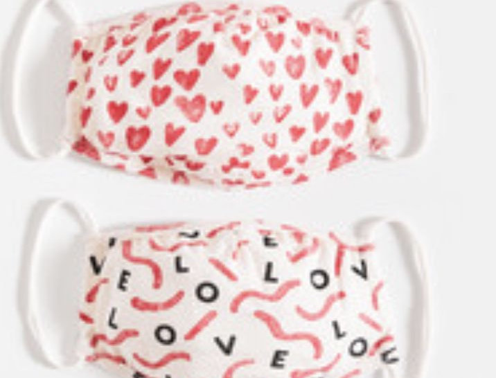 Z Supply Love in the Air 4 pack masks