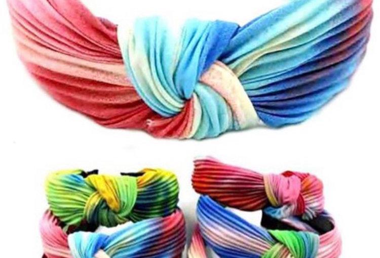 Multi Tie Dye Knot Headband