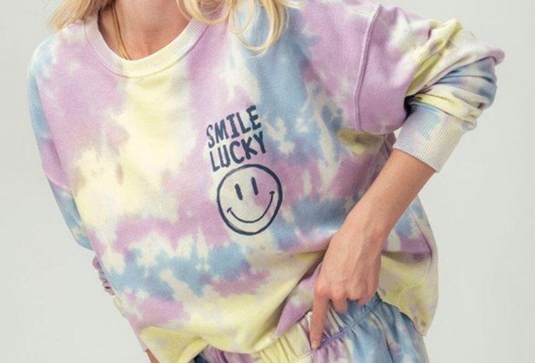 Tie Dye Smiley Sweatshirt