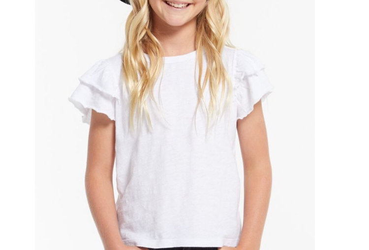 Z Supply Girls Lila Ruffle Tee