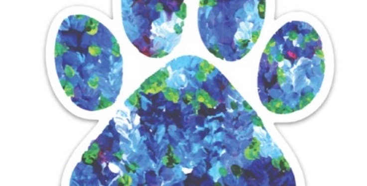 Blue Paw Sticker