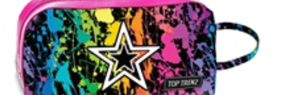 Splatter Star Cosmetic Bag